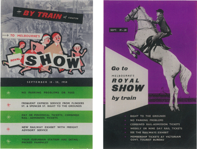 Royal Melbourne Show, 1957 and 1958