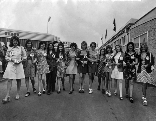 Miss Show Girl finalists 1974 Royal Melbourne Show