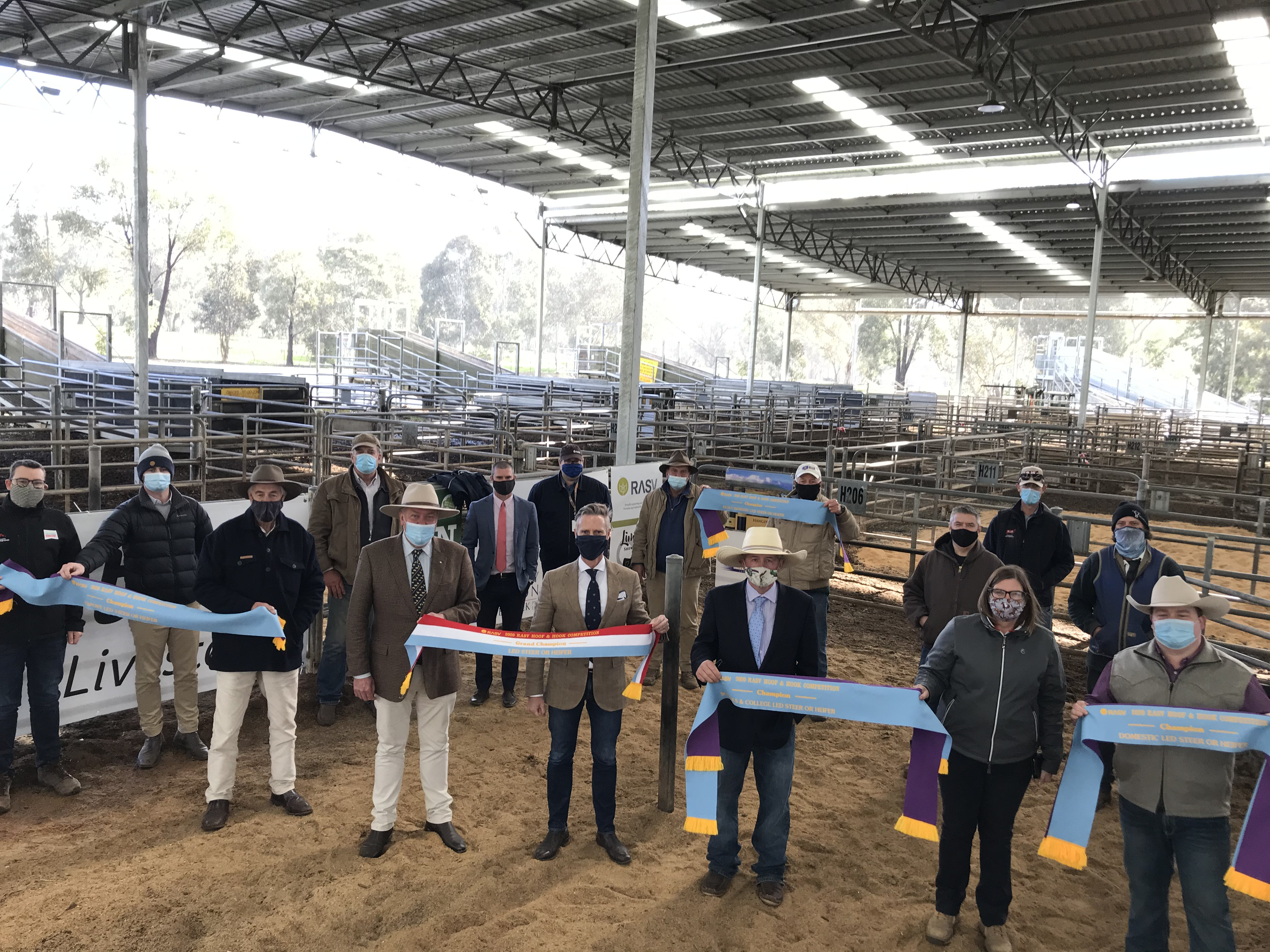 RASV Hoof and Hook Competition judged at Yea Saleyards. September 26, 2020